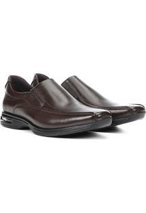 Sapato Social Democrata Smart Comfort Air Spot Masculino - Masculino-Marrom
