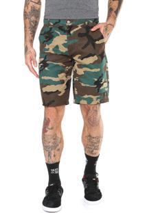 Bermuda Sarja Dc Shoes Reta Militar Verde