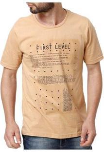 Camiseta Txt Masculina - Masculino-Caramelo