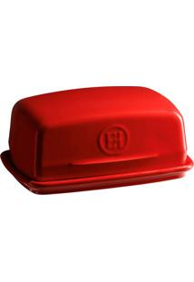 Manteigueira Cerâmica Hr 16,5X11,5 Vermelho Emile Henry