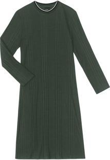 Vestido Ribana Canelada Verde