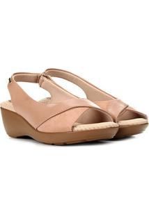 Sandália Modare Ultra Conforto Feminina - Feminino-Nude