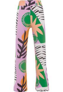 Calça Feminina Pijama Malha Jungle - Roxo