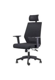 Cadeira Office Celles Preta Com Encosto Base Rozidio 95Cm - 62964 Preto