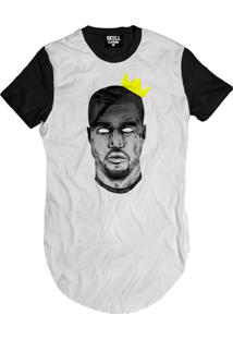 Camiseta Manga Curta Skull Clothing Kanye King Branco