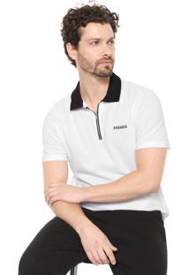 Camisa Polo Opera Rock Reta Zíper Branca