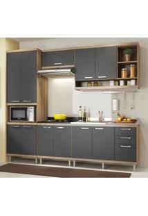 Cozinha Completa Multimóveis Com 5 Peças Sicília 5808 Argila/Grafite