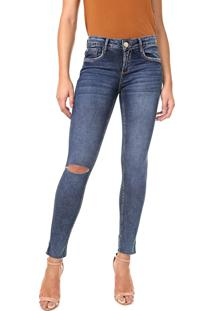 Calça Jeans Lança Perfume Skinny Vênus Azul