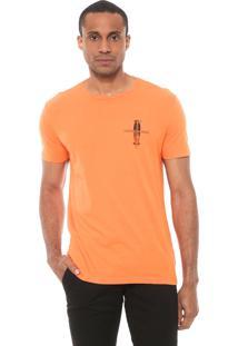 Camiseta Calvin Klein Jeans Estampada Laranja