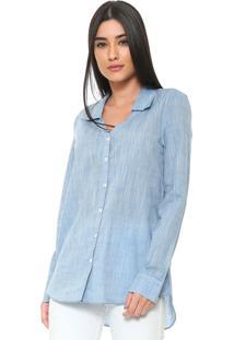 Camisa Enna Fraldada Azul