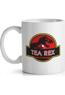 Caneca Tea Rex Geek10 Branco