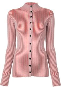 Proenza Schouler White Label Cardigan Canelado - Vermelho
