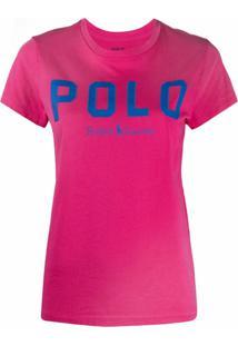 Polo Ralph Lauren Camiseta Com Estampa De Logo - Rosa