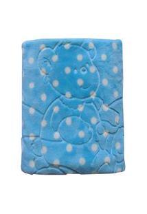 Cobertor Bebê Menino Jolitex Em Relevo Com Capuz