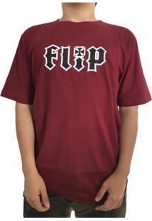 Camiseta Flip Hkd Burgundy Masculina - Masculino