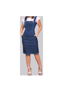 Vestido Curto Jeans Urbania Moda Evangélica Com Botoes E Ziper