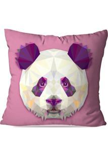 Capa De Almofada Avulsa Decorativa Panda Geométrico 45X45Cm - Kanui