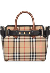 Burberry The Mini Vintage Check Triple Stud Belt Bag - Amarelo