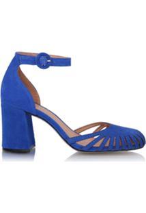 Luiza Barcelos Sandália Com Recortes - Azul