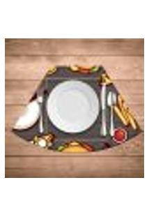 Jogo Americano Para Mesa Redonda Wevans Fast Food Kit Com 4 Pçs