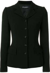 Dolce & Gabbana Blazer Abotoamento Único - Preto