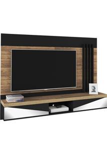 Painel Para Tv De Até 47'' Polegadas Monaco- Artely - Rustico / Preto
