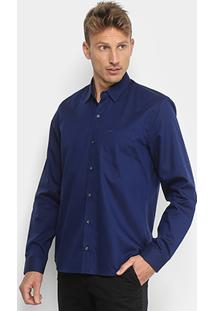 78d8e21aff1 ... Camisa Social Lacoste Manga Longa Masculina - Masculino-Azul Royal