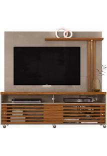 Rack Com Painel Para Tv Até 65 Polegadas Frizz Fendi/Naturale - Madete