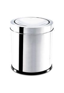 Lixeira Inox Com Tampa Basculante 3,2 Litros - Decorline Lixeiras Ø 15,5 X 17 Cm - Brinox