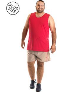 a33b9f6497 ... Regata Konciny Tradicional Plus Size Vermelho