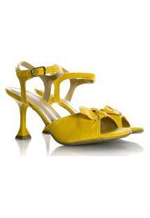 Sandália Natalia Salto Taça Amarelo