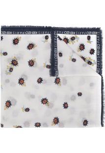 Kenzo Lenço Com Estampa Floral - Branco