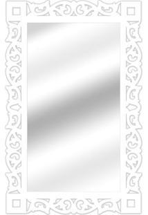 Espelho De Parede 14847B Branco 70X110 Art Shop