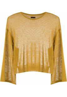 Osklen Blusa De Tricô Em Linho - Amarelo