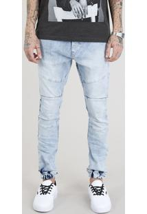 Calça Jeans Masculina Jogger Azul Claro