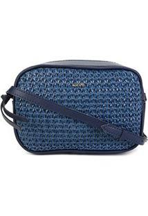 Bolsa Anacapri Mini Bag Tramado Feminina - Feminino-Azul
