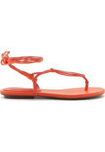 Sandália Rasteira Strings Orange | Schutz
