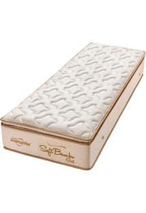 Colchão Solteiro Pillow Top Soft Bambu Gel One Face - Americanflex - Bege