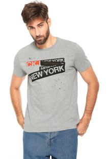 Camiseta Calvin Klein Jeans New York Cinza