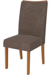 Cadeira Serena 2 Peças - Carvalho Americano Com Pena Marrom