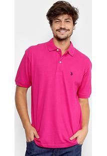 Camisa Polo U.S. Polo Assn Piquet Bordado Masculina - Masculino-Pink