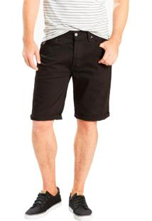 Bermuda Jeans Levis Masculina 501 Original Hemmed Preta Preto