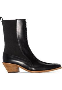 Haider Ackermann Ankle Boot Ela 50Mm - Preto