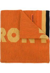 Heron Preston Cachecol De Tricô Canelado - Amarelo