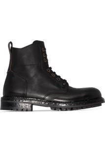 Dolce & Gabbana Ankle Boot Hobnail - Preto