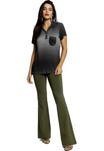 Camisa Polo Manga Curta Energia Fashion Maquinetado Pret