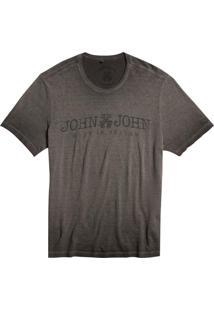 Camiseta John John Jj Basic Malha Cinza Masculina (Cinza Chumbo, M)