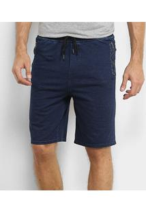 Bermuda Jeans Broken Rules Masculina - Masculino-Marinho
