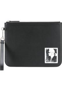 Karl Lagerfeld Clutch Elegance Karl Legend - Preto