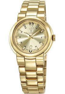 Relógio Analógico Jv04209- Dourado- Jean Vernierjean Vernier